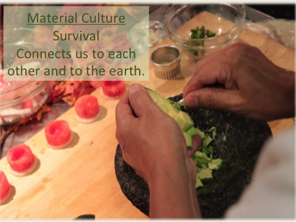 Cooking Workshop Slide: Cooking is working with material culture