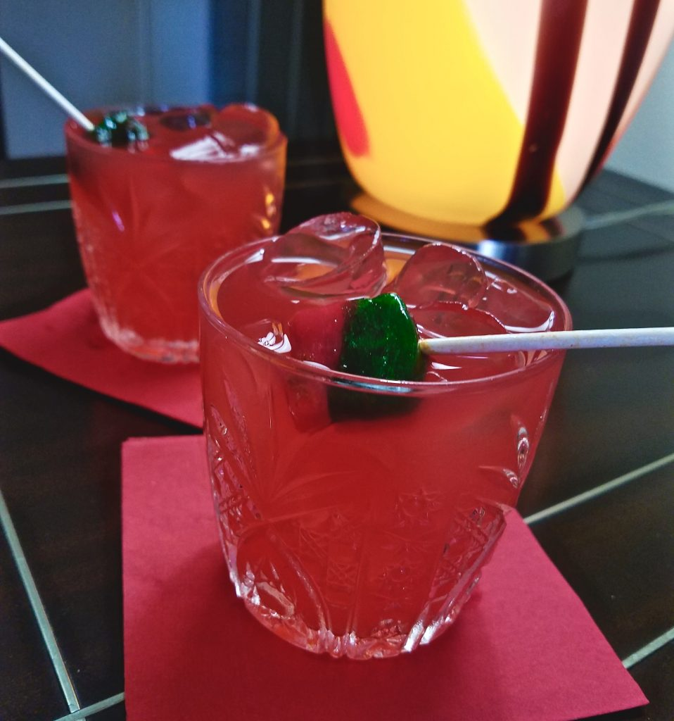 """Chicano 40"" is a watermelon cocktail created to celebrate the 40th Anniversary of the Founding of the San Antonio CineFestival"