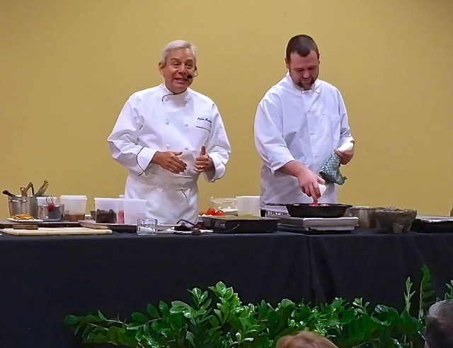 Texas Mexican Holiday Menu Cooking Demonstration, Adán Medrano and Kevin Babbitt