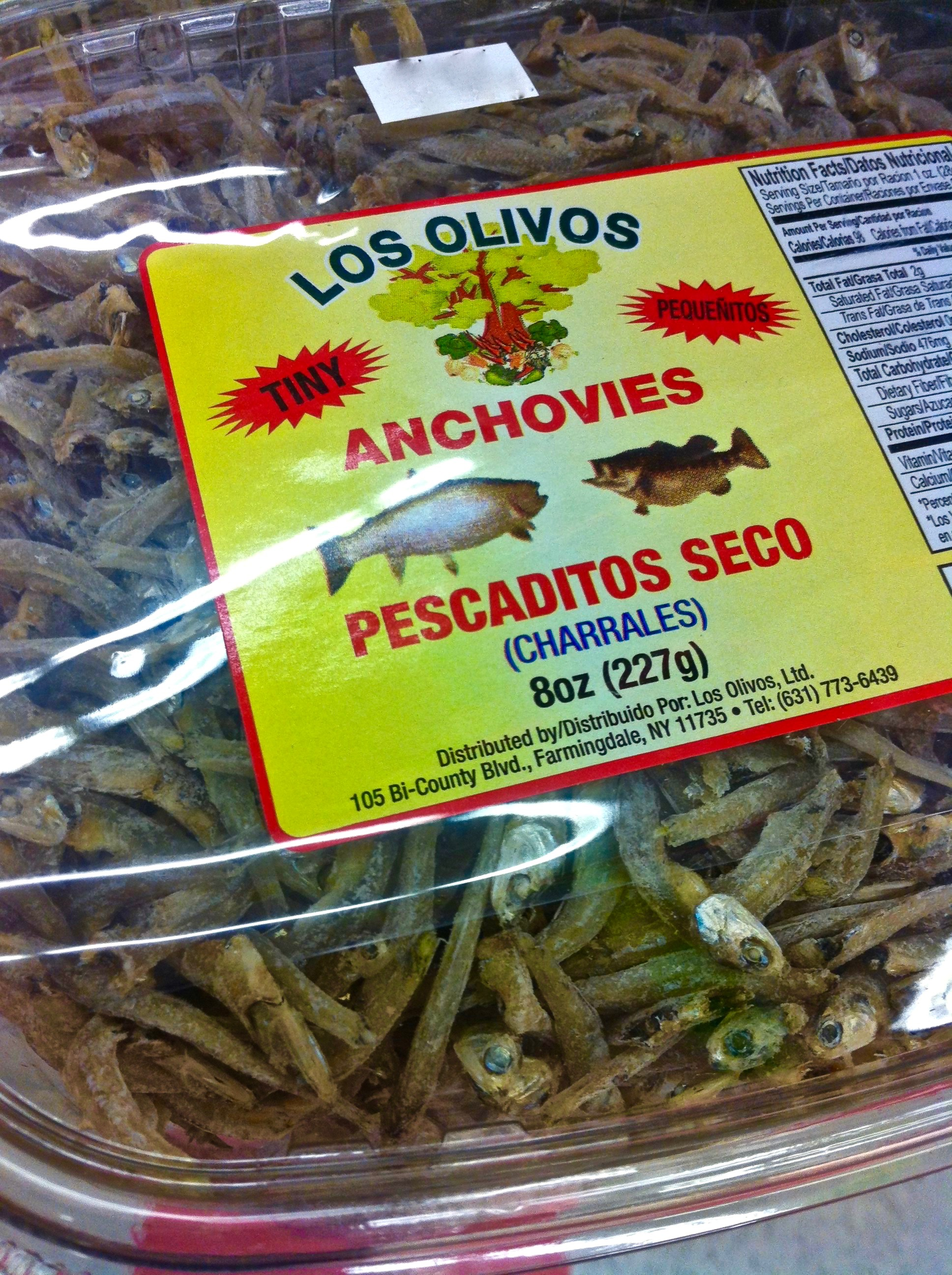Anchovies is the name sometimes applied to the Mexican Charales